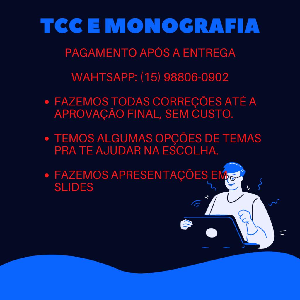 Comprar TCC em São Paulo - Pagamento após a entrega.